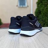 Чоловічі кросівки в стилі Adidas Nova Run чорні на білому, фото 9