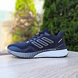 Чоловічі кросівки в стилі Adidas Nova Run чорні на білому, фото 10