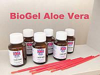 BioGel Aloe Vera Биогель для педикюра и маникюра (6 шт)+кисти тонкие для нанесения (6 шт) комплект