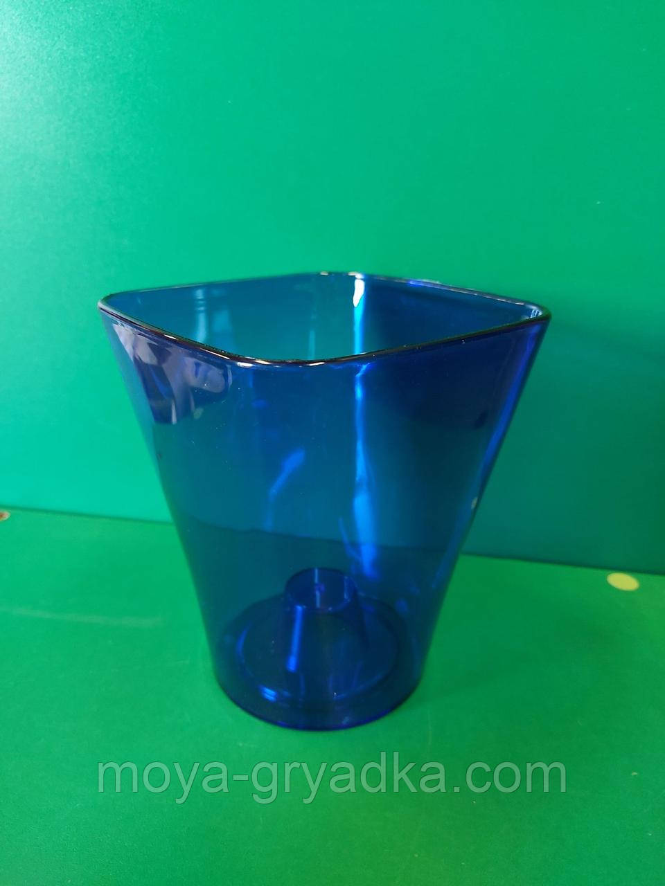 Орхідейне кашпо  Квадро  13*15см Синій