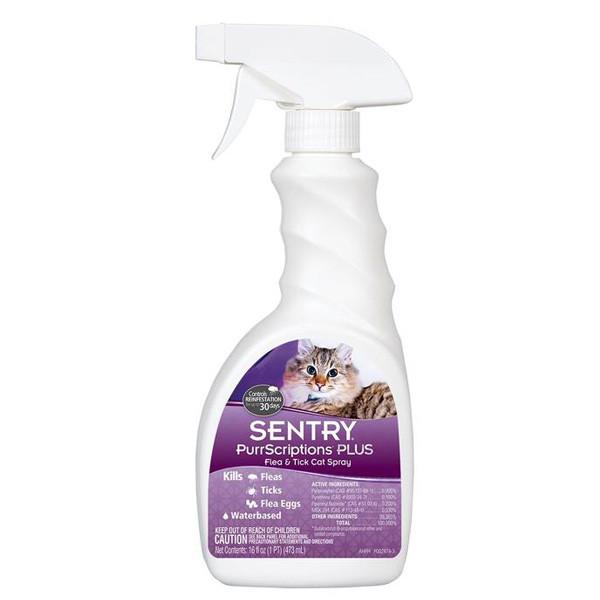 Спрей от блох и клещей Sentry PurrScriptions Plus для кошек 473 мл