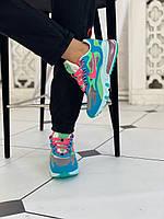 "Женские кроссовки Nike air max 270 React ""Blue Lagoon"" ТОП реплика"