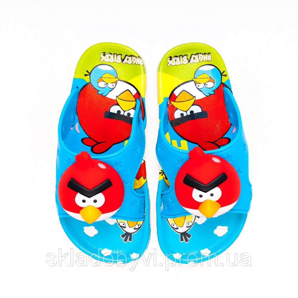 Детские шлепанцы  оптом Gipanis 25-32рр. Модель Angry Birds