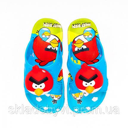 Детские шлепанцы  оптом Gipanis 25-32рр. Модель Angry Birds, фото 2