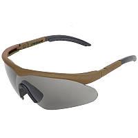 Окуляри тактичні Swiss Eye Raptor (+2 комплекти змінних лінз), оправа коричнева