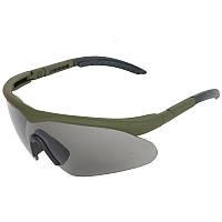 Очки тактические Swiss Eye Raptor (+2 комплекта сменных линз), оправа зеленая