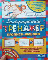 Каллиграфический тренажёр Школа Василий Федиенко прописи шаблон (9789664290095)