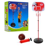 Детский баскетбольный набор Bambi M 5959, стойка, баскетбольное кольцо, мяч, насос
