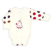 Боди с косой застежкой Baby Vere Sweet Unicorn интерлок молочный
