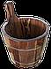 Шайка лиственница мореная 7 л для бани и сауны, фото 2
