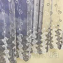 Фіранки для веранди хола передпокою, фіранки з фатину в зал спальню кухню вітальню, тюль ламбрекени для будинку спальні залу кухні, фото 5
