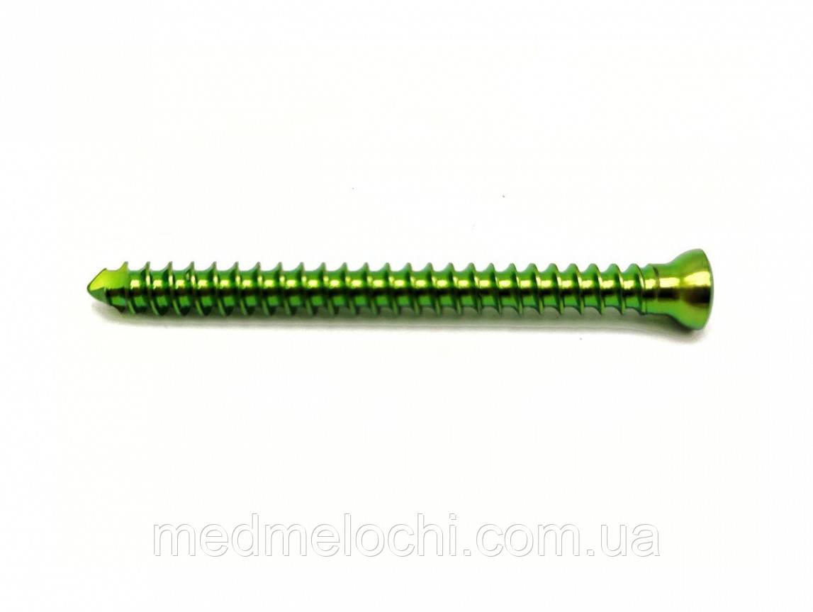 Гвинт кортикальний d=3.5  L 34mm TI