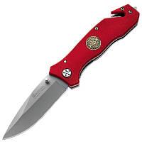 Нож складной Boker Magnum Fire Brigade (длина: 205мм, лезвие: 85мм), красный