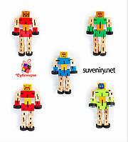 Деревянный робот-трансформер средний, фото 1