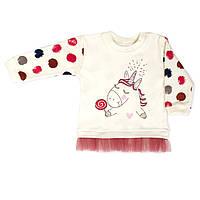 Кофточка-свитшот Baby Veres  Sweet Unicorn интерлок