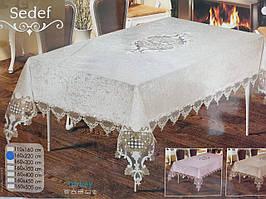 Бархатная скатерть с французским кружевом-органзой Avzem, 160х220, AYD (Турция)
