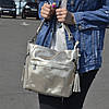 """Женская кожаная сумка с лазерным напылением """"Электра Gold"""""""
