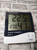 Электронный Термометр гигрометр цифровой Digital HTC1 + электронные часы