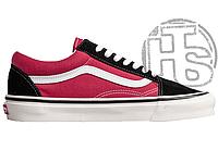 Мужские кеды Vans Old Skool 36 DX Black Red White VNA38G2UBS