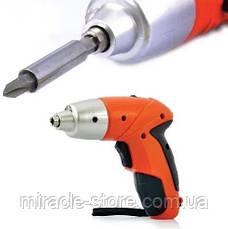 Универсальная аккумуляторная отвертка Tuoye Cordless Screwdriver мини шуруповерт электрическая отвертка, фото 3