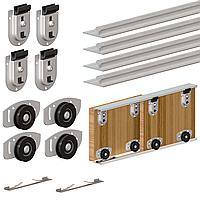 Комплект раздвижной системы для шкафа - купе Valcomp ARES2 AR18 для 2-х дверей (211-052)