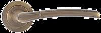 Ручка дверная на розетке SIBA OLIMPOS матовый античная бронза (A20 0 80 80)