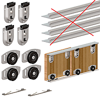Комплект роликов Valcomp ARES2 для 2-х дверей шкафа - купе до 70 кг (219-090)