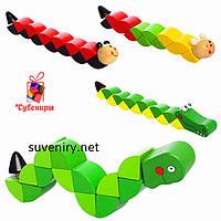 Дитяча дерев'яна іграшка змійка