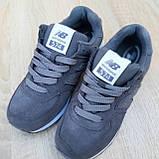 Жіночі кросівки в стилі New Balance 574 сірі, фото 7