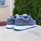 Жіночі кросівки в стилі New Balance 574 сірі, фото 9