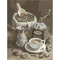 Картина по номерам на холсте Утренний Кофе (КНО2047) 40х50 ТМ Идейка