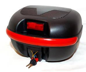 Кофр для мотоцикла (багажник) HF-851 черный мат