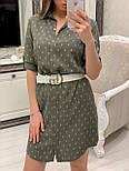 Женское хлопковое платье-рубашка с якорями (2 цвета), размеры 42-48, фото 3
