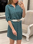 Женское хлопковое платье-рубашка с якорями (2 цвета), размеры 42-48, фото 4