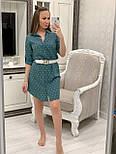 Женское хлопковое платье-рубашка с якорями (2 цвета), размеры 42-48, фото 5