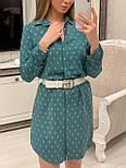 Женское хлопковое платье-рубашка с якорями (2 цвета), размеры 42-48, фото 7