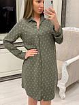Женское хлопковое платье-рубашка с якорями (2 цвета), размеры 42-48, фото 6