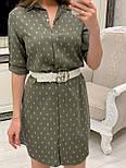 Женское хлопковое платье-рубашка с якорями (2 цвета), размеры 42-48, фото 10