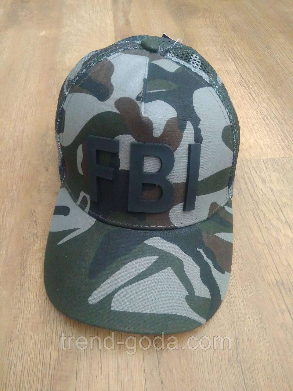 Бейсболка мужская кепка комуфляжная с перфорацией и логотипом