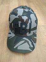 Бейсболка мужская кепка комуфляжная с перфорацией и логотипом, фото 1
