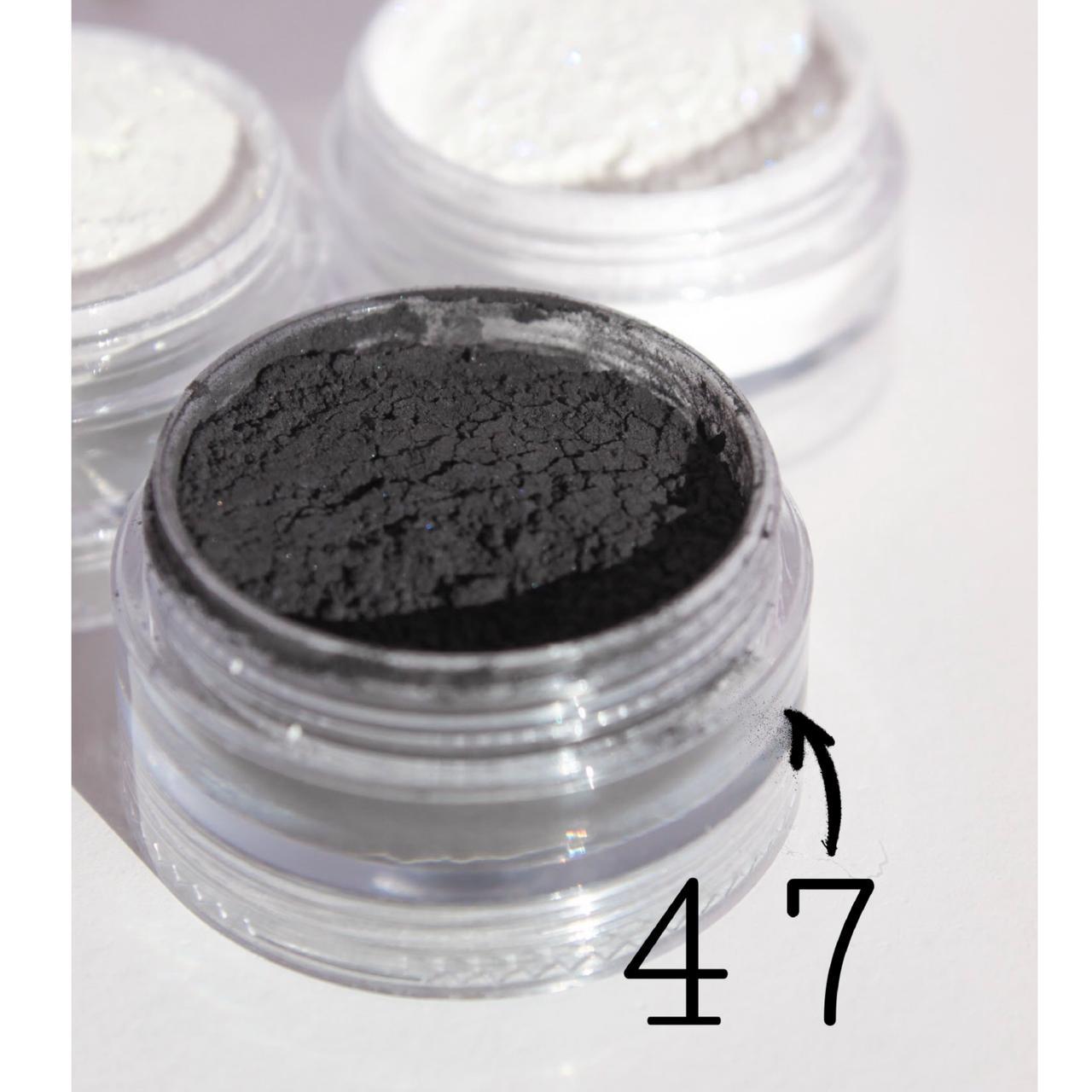 Мінеральні тіні Ніч (тон 47) 5 мл - розсипчасті з природних мінералів, в палітрі 54 відтінку!