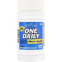 21st Century, One Daily, для мужского здоровья, для мужчин, мультивитамины и мультиминералы, 100 таблеток