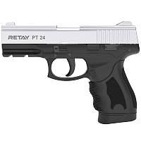 Пистолет сигнальный стартовый Retay Taurus PT24 (9мм, 15 зарядов), хром, фото 1