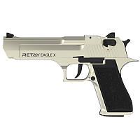 Пистолет сигнальный стартовый Retay Desert Eagle Х (9мм, 19 зарядов), сатин, фото 1