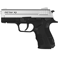 Пистолет сигнальный стартовый Retay Springfield eXtreme Duty/XD X1 (9мм, 15 зарядов), хром, фото 1
