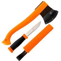 Набор туристический Mora Outdoor (топор Outdoor Axe + нож Outdoor 2000), оранжевый