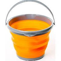 Ведро складное силиконовое Tramp TRC-092-orange, фото 1