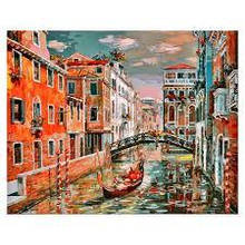 Картина за номерами Білосніжка Венеція. Канал Сан Джованні Латерано