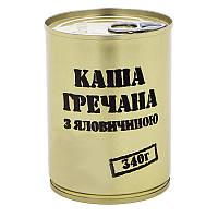 Тушенка из говядины с гречневой кашей, консерва (340г), ж/б, фото 1