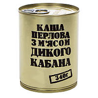 Тушонка з дикого кабана з перловою кашею, консерва (340г), ж/б